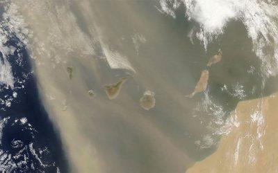 Calima vista dal satellite