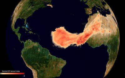 Godzilla, la gigantesca tempesta di sabbia che viaggia verso i Caraibi attraversando le Isole Canarie