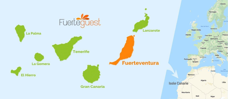 Dove si trovano Fuerteventura e le Isole Canarie